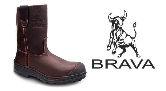 Imagen de una bota industrial marca brava.