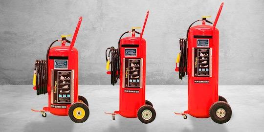 Foto de extintores de unidad móvil.